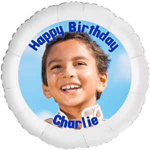 Custom Boy Birthday Photo Balloon