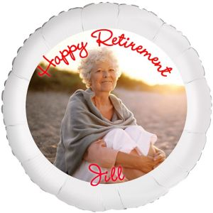 Custom Retirement Photo Balloon