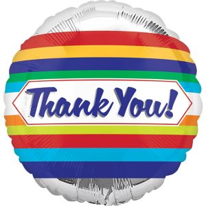 Silver Thank You Balloon - Multilingual