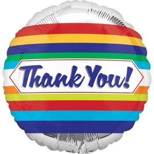Silver Thank You Balloon - Multilingual