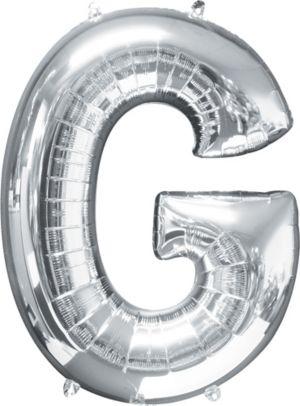 Letter G Balloon - Silver