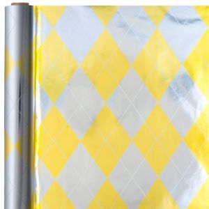 Metallic Gold & Silver Argyle Gift Wrap