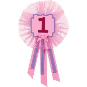 Pink 1st Birthday Award Ribbon
