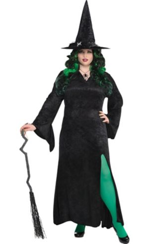 Black Basic Witch Dress Plus Size