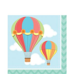 Up & Away Baby Shower Lunch Napkins 16ct
