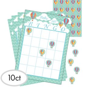 Up & Away Baby Shower Bingo Game