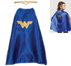 Child Wonder Woman Tiara & Cape Set - Batman v Superman: Dawn of Justice