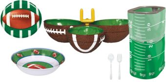 Football Serveware Party Kit