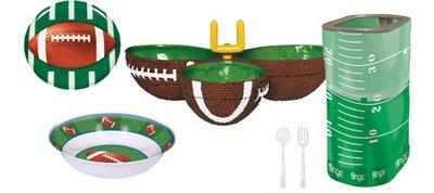 Football Serveware Party Kit