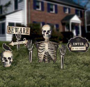 Boneyard Skeleton Yard Stakes 6ct