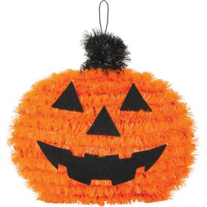 Mini Tinsel Jack-o'-Lantern