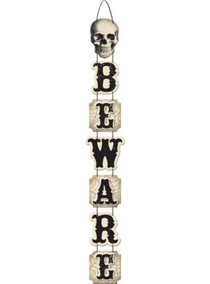Boneyard Stacked Beware Sign
