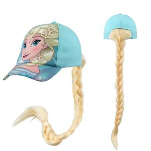 Child Elsa Baseball Hat with Braid - Frozen