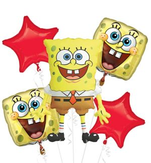 SpongeBob Balloon Bouquet 5pc