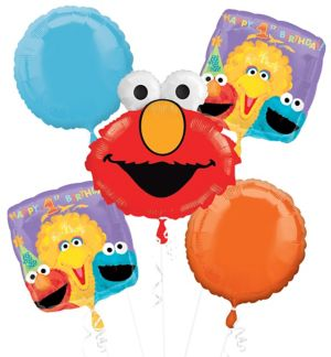 Elmo 1st Birthday Balloon Bouquet - Sesame Street