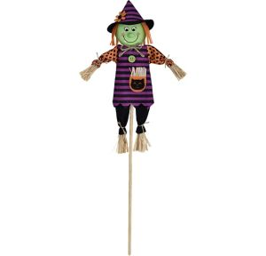 Mini Friendly Witch Yard Stake