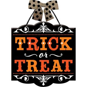 Hanging Trick-or-Treat Sign
