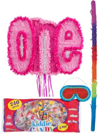 Pink One Pinata Kit