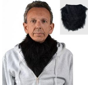 Black Gorilla Fur Collar