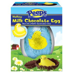 Blue Peeps Milk Chocolate Egg with Marshmallow Chick