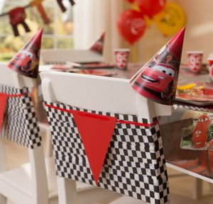 Cars Chair Decorating Kit for 8 Guests