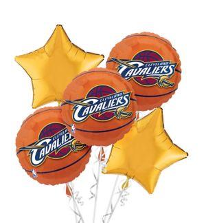 Cleveland Cavaliers Balloon Bouquet 5pc - Basketball