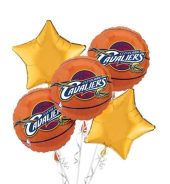 Cleveland Cavaliers Balloon Bouquet 5pc - Basketball
