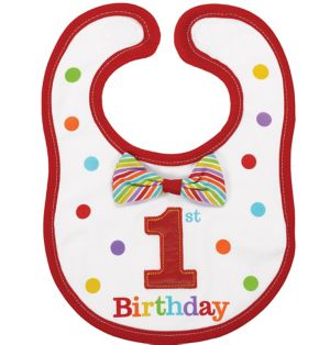 Rainbow 1st Birthday Bib