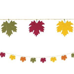 Fall Leaf Burlap Garland