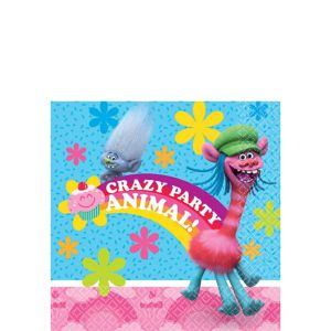 Trolls Beverage Napkins 16ct