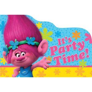 Trolls Invitations 8ct
