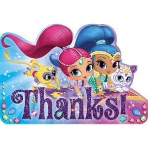 Shimmer and Shine Thank You Notes 8ct