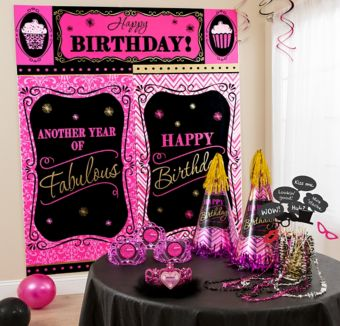 Black & Pink Photo Booth Kit