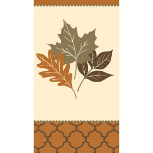 Copper Leaves Guest Towels 16ct