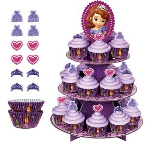 Deluxe Sofia the First Cupcake Kit for 24