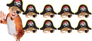 Little Pirate Masks 8ct