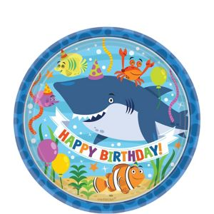 Under the Sea Birthday Dessert Plates 8ct