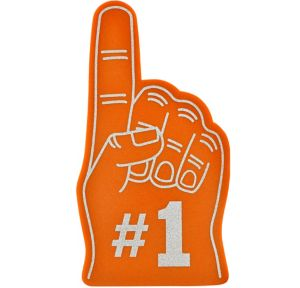 Orange #1 Foam Finger