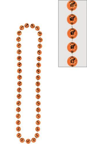 Orange Jumbo Bead Necklace