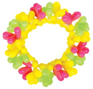 Black Light Neon Bead Bracelet