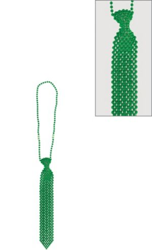 Green Tie Bead Necklace