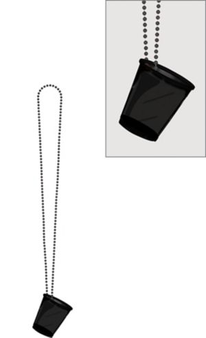 Black Shot Glass Bead Necklace