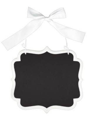White Border Scroll Chalkboard Sign