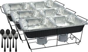 Black Chafing Dish Buffet Set 24pc