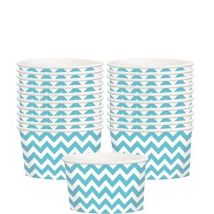 Caribbean Blue Chevron Paper Treat Cups 20ct