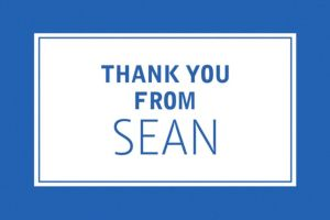 Custom Classic Royal Blue Graduation Thank You Note