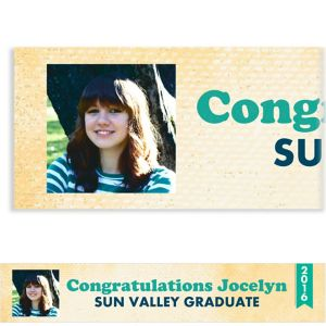 Custom Retro Graduation Photo Banner
