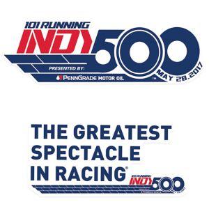 101st Indy 500 Decals 2ct