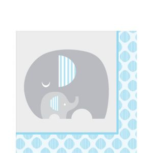 Blue Baby Elephant Lunch Napkins 16ct