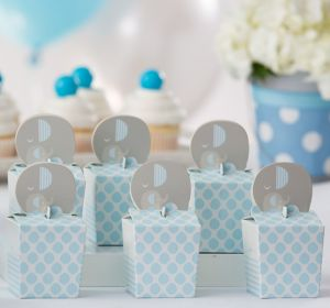 Blue Baby Elephant Treat Boxes 8ct